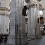 Duomo di Pavia - the interior of the chuch is all white marble