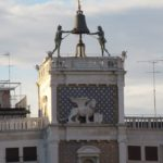 Venice - Piazza San Marco - the top two levels of the Torre dell'Orologio