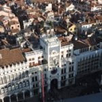 Venice - Piazza San Marco - a view from the Campanile of the Torre dell'Orologio
