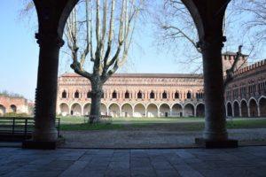 Pavia, Castello Visconteo - an interior courtyard