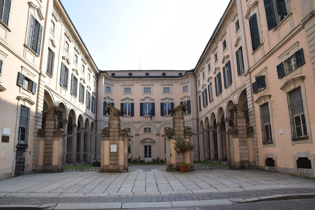Pavia, Università degli Studi di Pavia - courtyard of some of the university buildings.