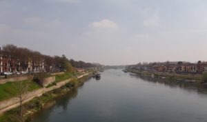 The Ticino River as seen from the Coperto