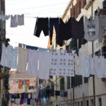 Venice - the laundry of the locals floats over the canals!