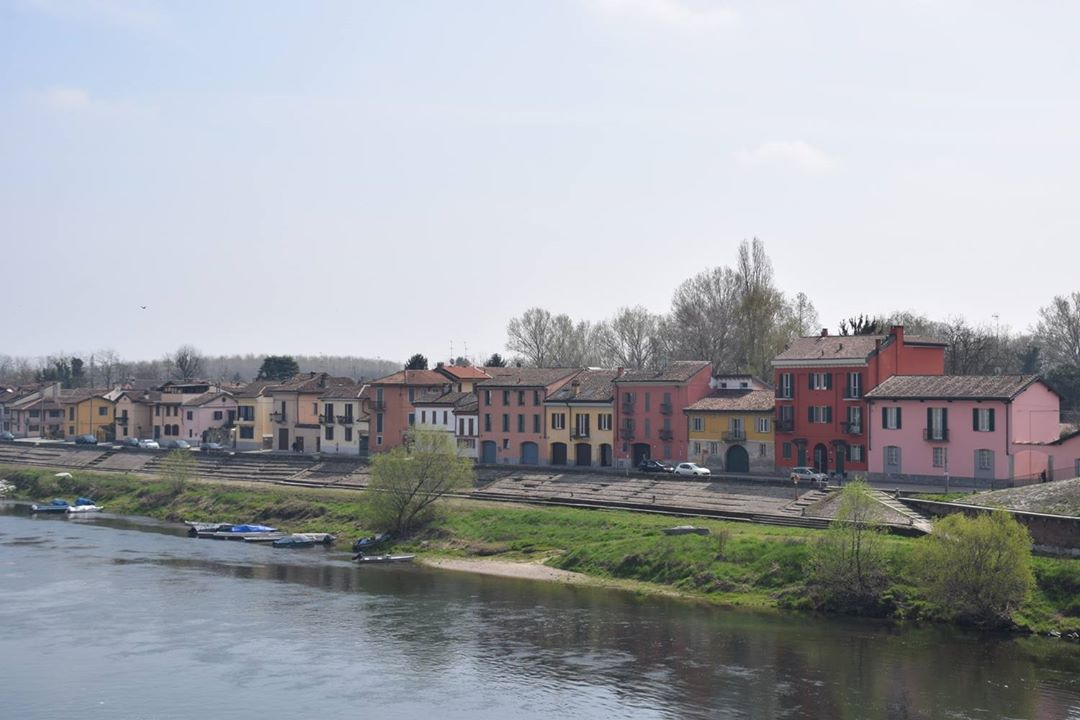 Pavia, Ticino River - old homes of the ancient fishing quarter on the riverbank