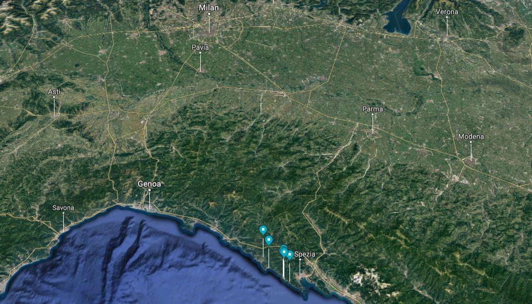 Cinque Terre slow tour map