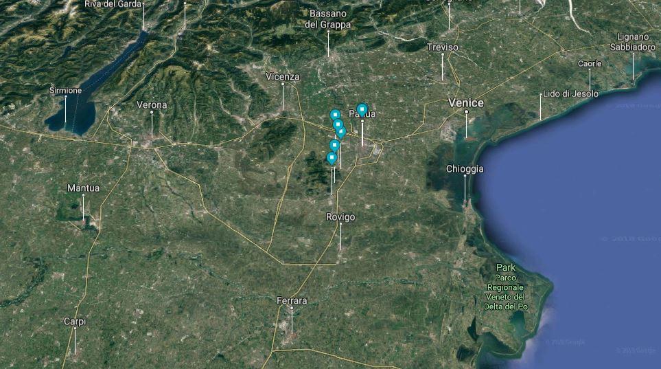 Padua Slow Tour Map