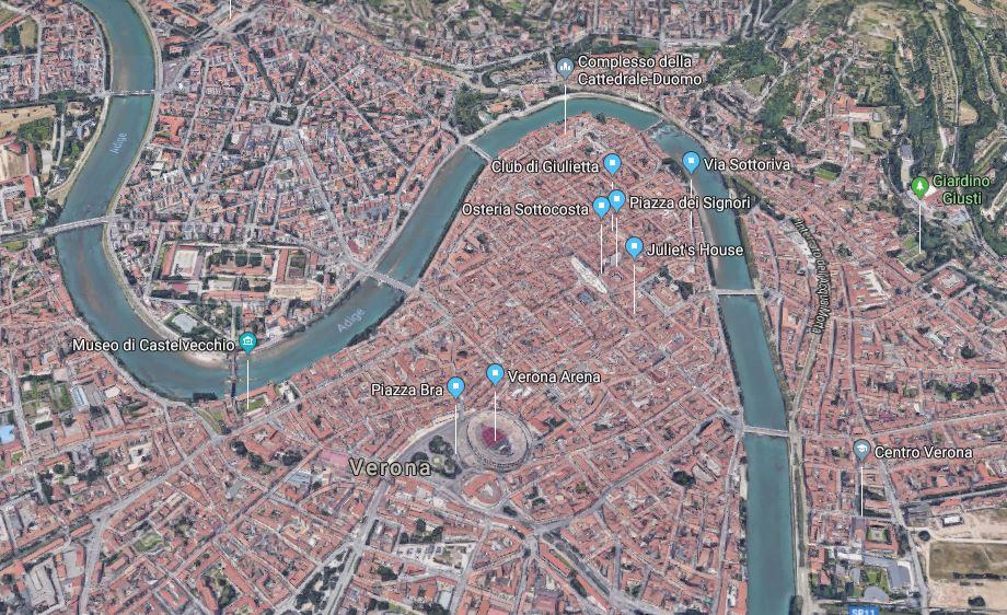 Verona 3D map
