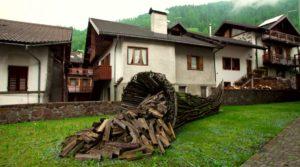 Mezzano, wood pile