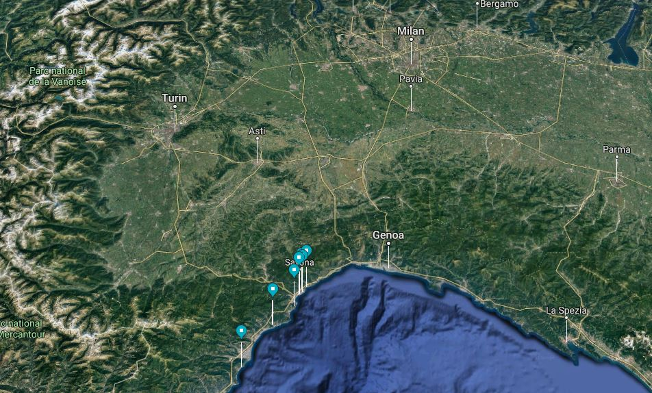 Savona Slow Tour map
