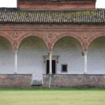 Certosa di Pavia, the Clasura - Cloister - detail - the door to one of the houses for the monks
