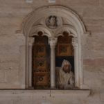 "Chiesa di Santa Maria della Grazie - 1490 wall painting by Jacopino De Mottis ""Carthusian Lay Brother Overlooking"""