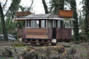 An old railway car - just outside the Certosa