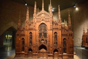 Museum: Model of the Duomo, linden wood and Walnut
