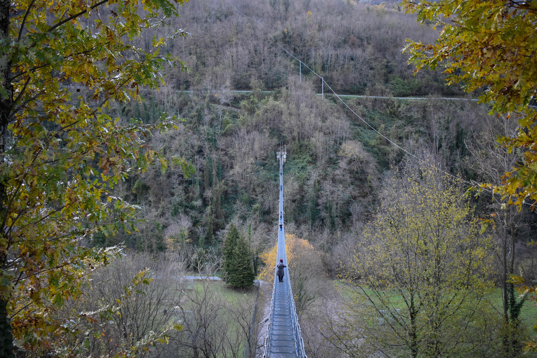 San Marcello, suspension bridge