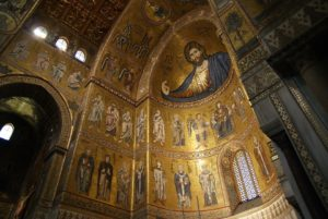 Monreale, inside the church