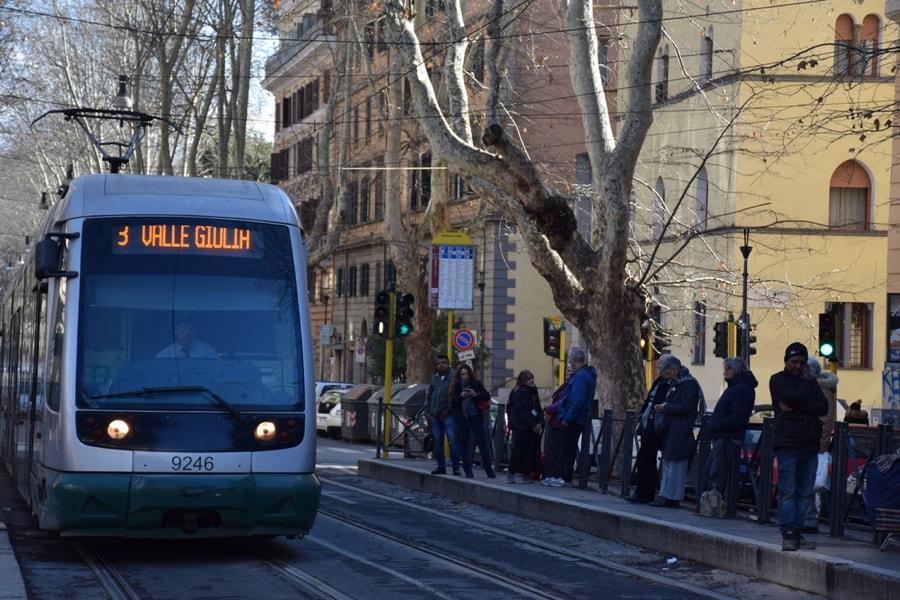 Tram stop, by Nicoletta Speltra