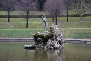 Palazzo Pitti - Boboli Gardens - Neptune Fountain - Photo taken in February