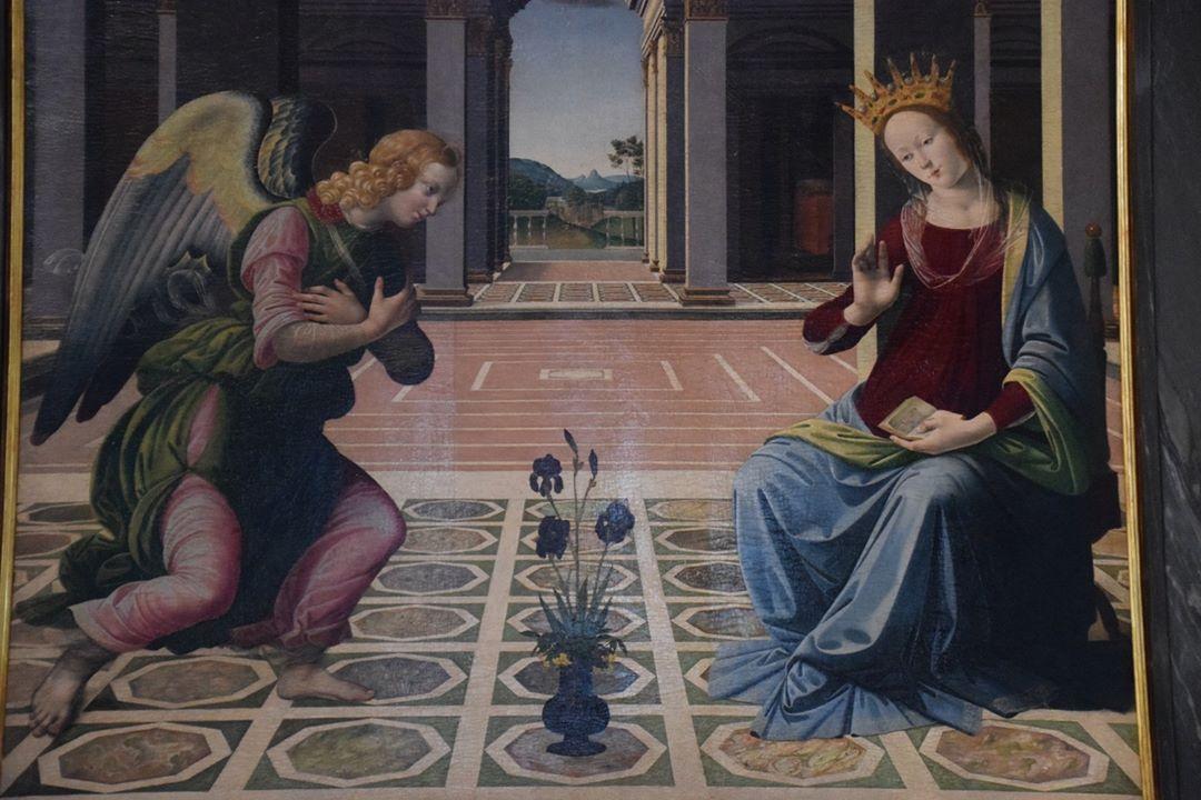 Basilica di Santo Spirito – the Cappella Frescobaldi – The Annunciation painted in 1498 by Pietro Donzello (1452-1509). Another 'stolen' photo!