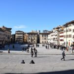 Piazza Santa Croce - the view of the square from the steps of the Basilica