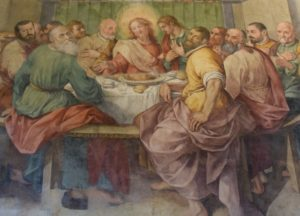 New refectory of the Basilica di Santo Spirito – here is a photo of just the Last Supper with Jesus and his twelve apostles – very beautiful!
