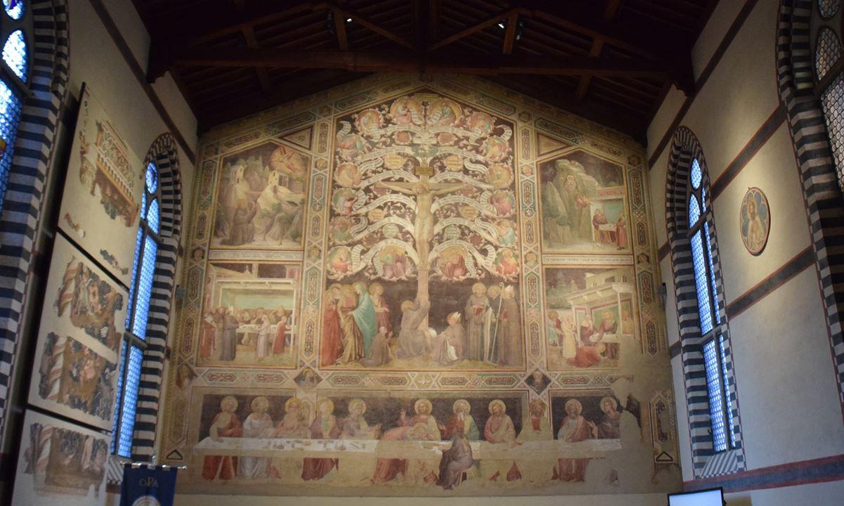 Refectory of the Basilica di Santa Croce - the tree depicting Jesus' lineage