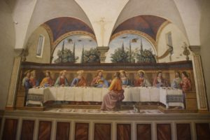 Museo Nazionale di San Marco - The Last Supper painted in 1482 by Domenico Ghirlandaio (1449-1494). The old refectory is now the gift shop and bookstore