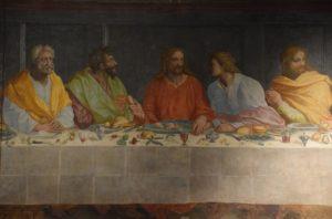 Chiesa di Santa Maria della Carmine - Detail of the Last Supper painted in 1582 by Alessandro Allori (1535-1607)