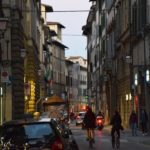 A typical Florentine street at dusk!