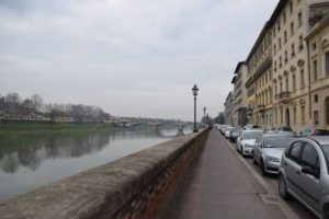 Walking along the Arno River to the Parco Cascine in February! One passes the US Embassy on the way!