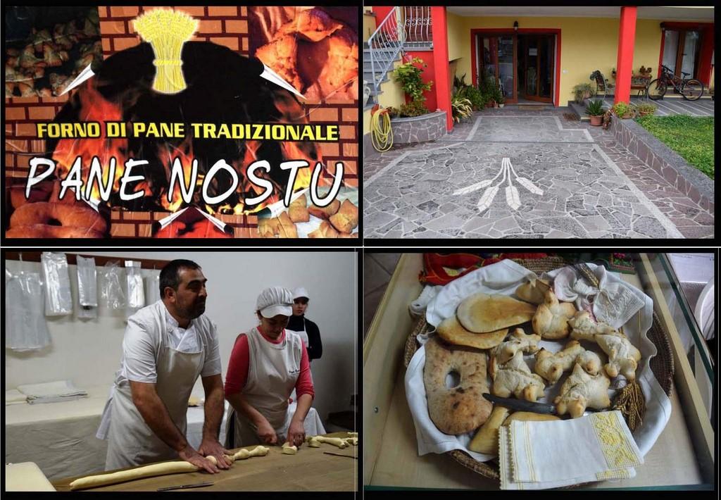 Samugheo - Pane Nostu - Topleft The colorful business card of Pane Nostu