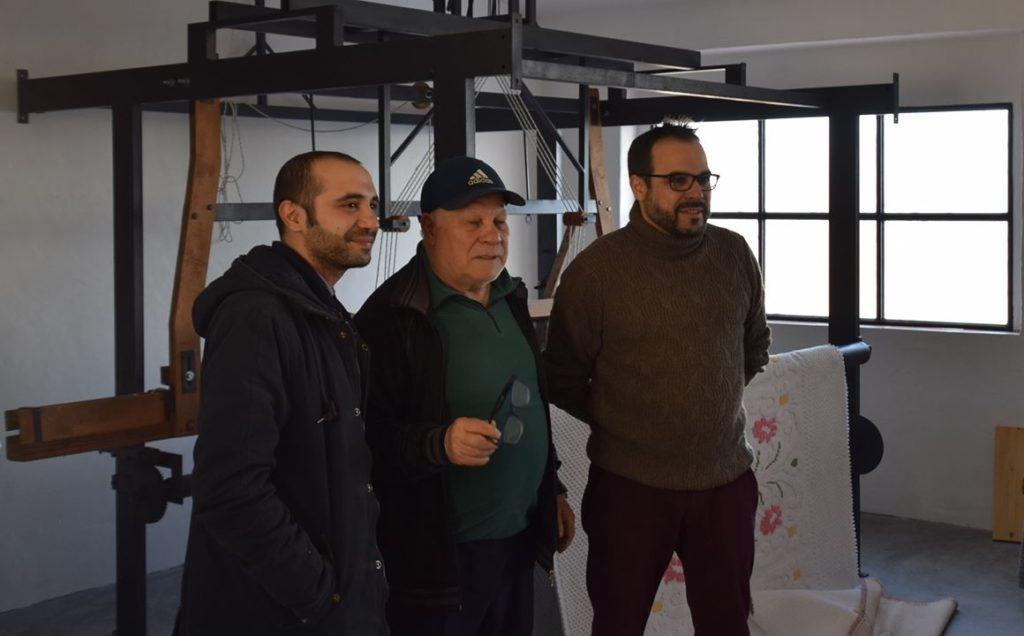 28. Samugheo, Sartapp Centro Tessuti Sardi - the men of SARTAPP! From the left Fabrizio, Basilio, and Carlo