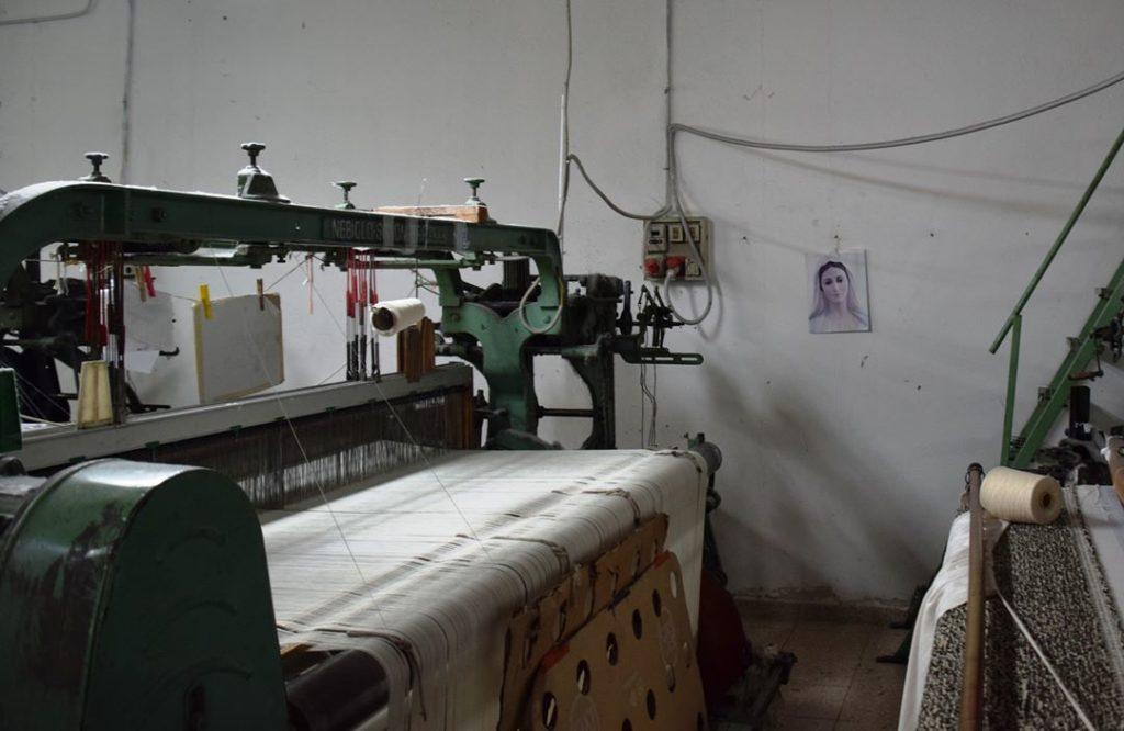 30. Samugheo - SARTAPP Centro Tessuti Sardi – the Madonna of one of the weavers guarding her loom!