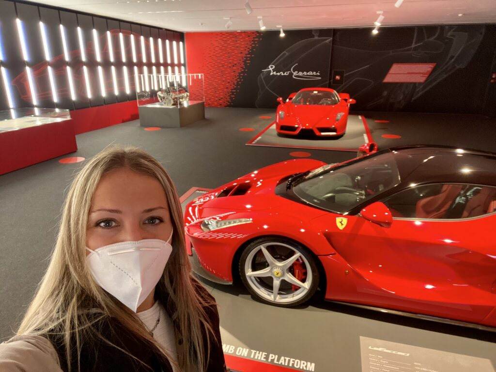 Sabina at Ferrari Museum