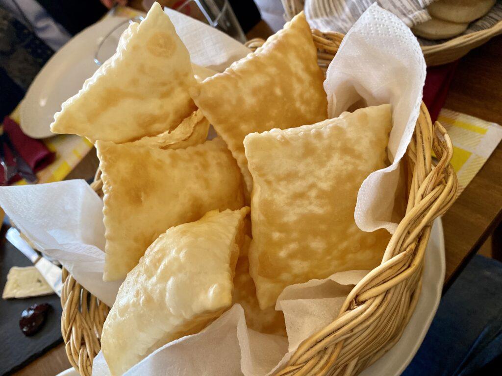 Emilia food: gnocco fritto