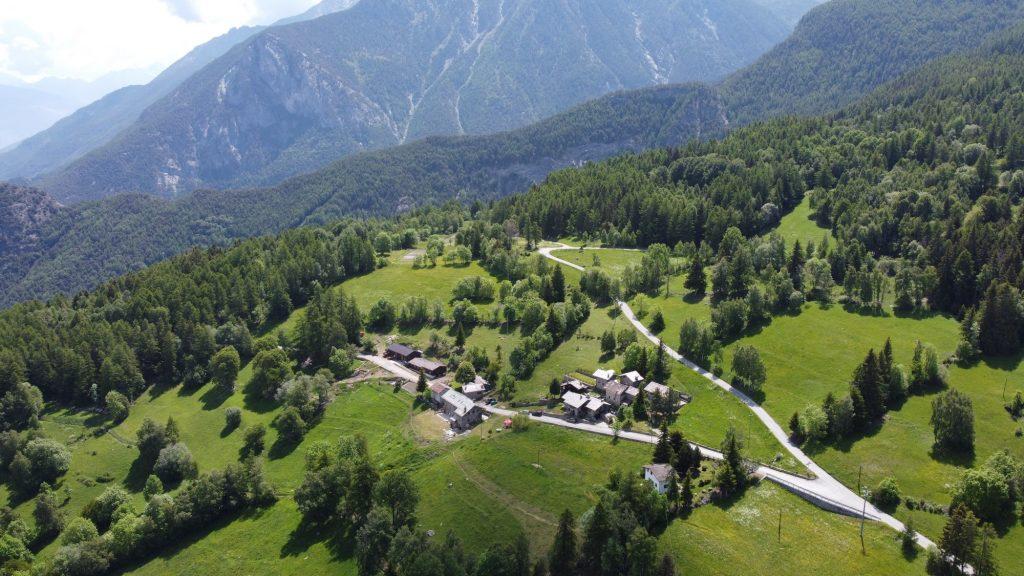 Vallée d'Aoste : vue Vallée St Marcel