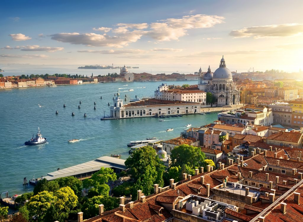 Panoramic aerial view of Venice